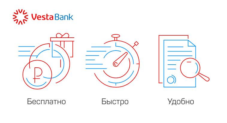 Условия кредитования в банке Веста